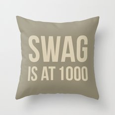 Swag approved Throw Pillow