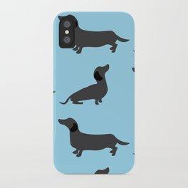 Dachshund pattern iPhone Case