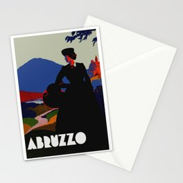 Vintage Abruzzo Italy Travel Poster Stationery Cards
