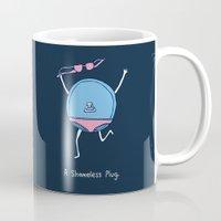 shameless Mugs featuring A Shameless Plug by Visual World