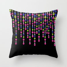 Pearl beads and hearts .2 Throw Pillow