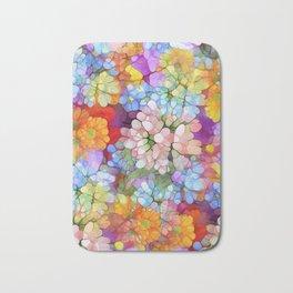 Rainbow Flower Shower Bath Mat