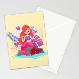 Mermaid Jessica Rabbit Stationery Cards