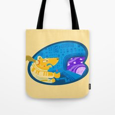 Space dog the avenger Tote Bag