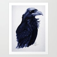 raven Art Prints featuring .Raven by Isaiah K. Stephens