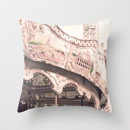 Paris Nursery, White, Carousel Throw Pillow