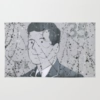 jfk Area & Throw Rugs featuring JFK by Doren Chapman