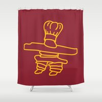 cook Shower Curtains featuring Inuksuk Cook by Maligne