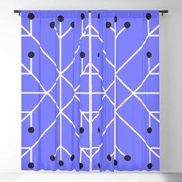 Mod Snowflake Purple Blackout Curtain