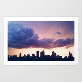 storms over atlanta Art Print