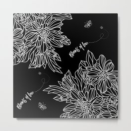 Blooms of Love_Midnight Metal Print