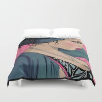 cook Duvet Covers featuring Hollie Cook by Mamakhol