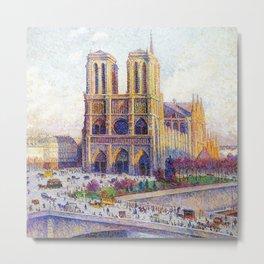Quai Saint-Michel and Notre-Dame Paris landscape painting by Maximilien Luce Metal Print