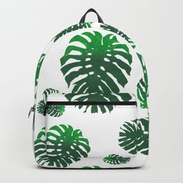 Monstera Deliciosa pattern Backpack