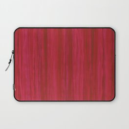 Strawberry Colored Vertical Stripes Laptop Sleeve