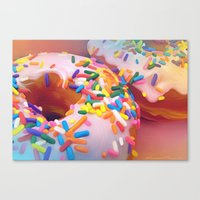sprinkles Canvas Prints featuring Sprinkles by ShannonPosedenti