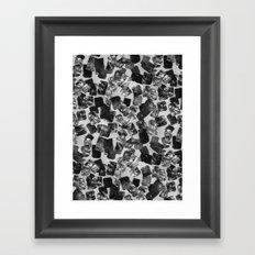 tear down (monochrome series) Framed Art Print
