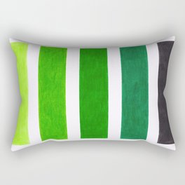 Colorful Green Stripes Rectangular Pillow