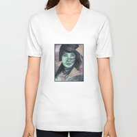 planes V-neck T-shirts featuring Paper planes  by Pendientera
