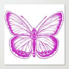 Butterfly - Violet - Beautiful - purple Canvas Print
