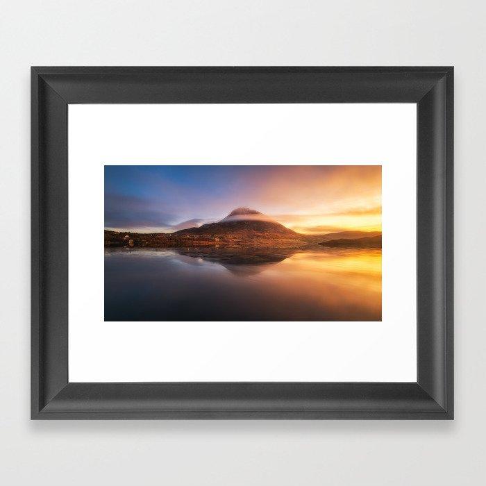 Mount Errigal  (RR77) Framed Art Print