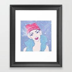 selfie girl_11 Framed Art Print