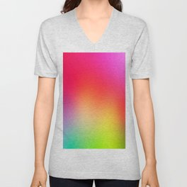 Fluorescent Neon Colors Unisex V-Neck