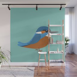 Common king fisher Wall Mural