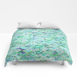 Marble Mosaic in Mint Quartz and Jade Comforters