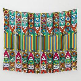 Rainbow Aztec Print Wall Tapestry