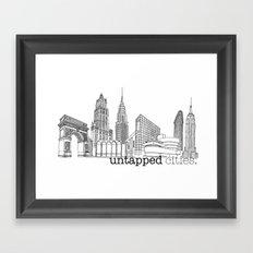 Untapped Cities Framed Art Print