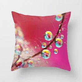 Smoking Pink Drops Throw Pillow