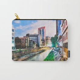 On going rapid urbanization leads to river pollution. Carry-All Pouch