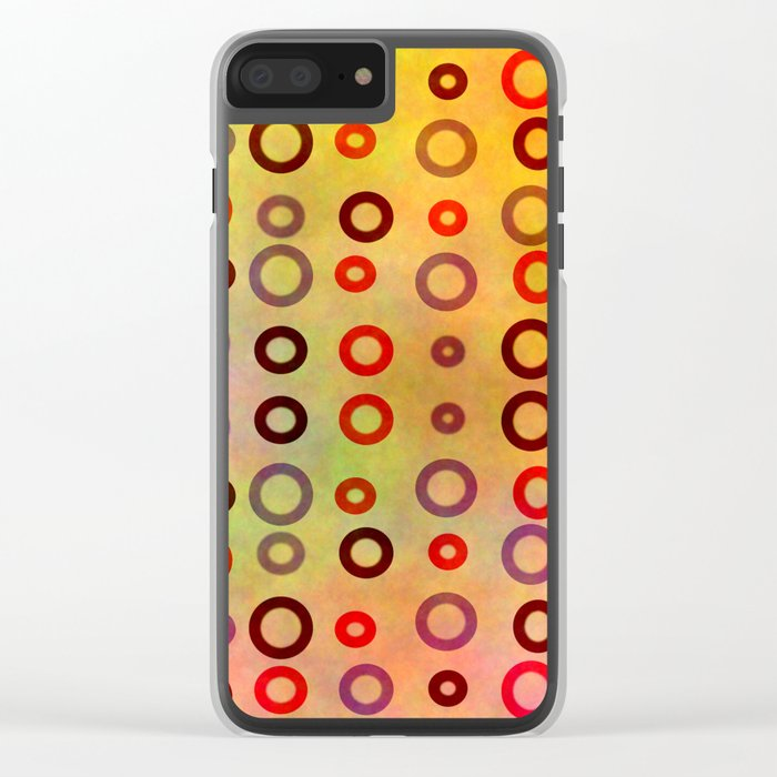 Playful circles Clear iPhone Case