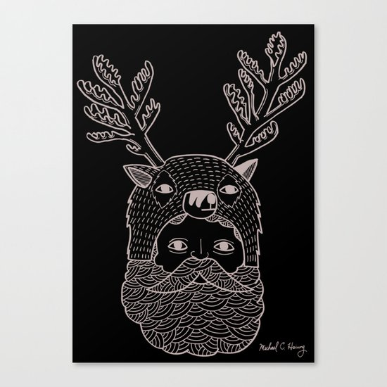 Portrait of Northern Deer Man Canvas Print