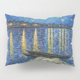 Starry Night Over the Rhône Painting Pillow Sham