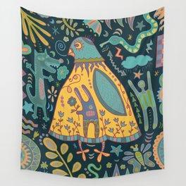 Chatty Yellow Bird Wall Tapestry