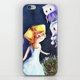 Jellyfish in the sky iPhone Skin