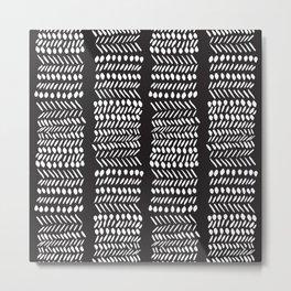 Modern Mud Cloth 3 Metal Print