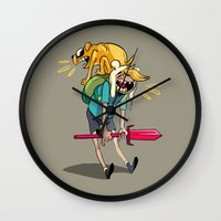 musa Wall Clocks featuring what time is it by musa