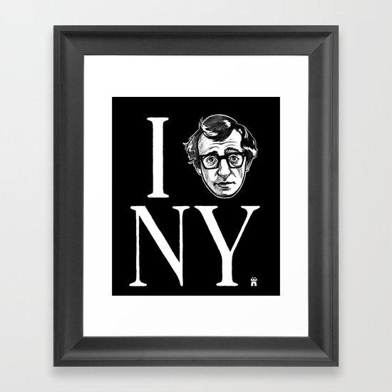 I (Woody) NY Framed Art Print
