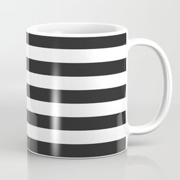 American Flag Stars and Stripes Black White Coffee Mug
