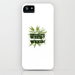 Cannabis Investor illustration with text iPhone Case