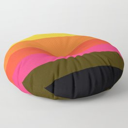 Earth and Summer Sky - Color Strips - Colors of Travel Floor Pillow