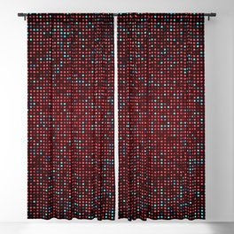 Red and Blue Dots Blackout Curtain