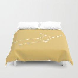 Virgo Zodiac Constellation - Golden Yellow Duvet Cover