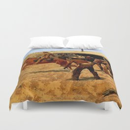 "Frederic Remington Western Art ""Pony Express"" Duvet Cover"