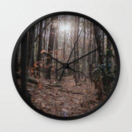 North Carolina Fall Wall Clock