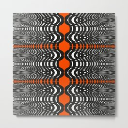 Black and Orange Illustion Metal Print