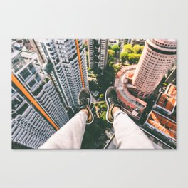 view high above top 5 Canvas Print